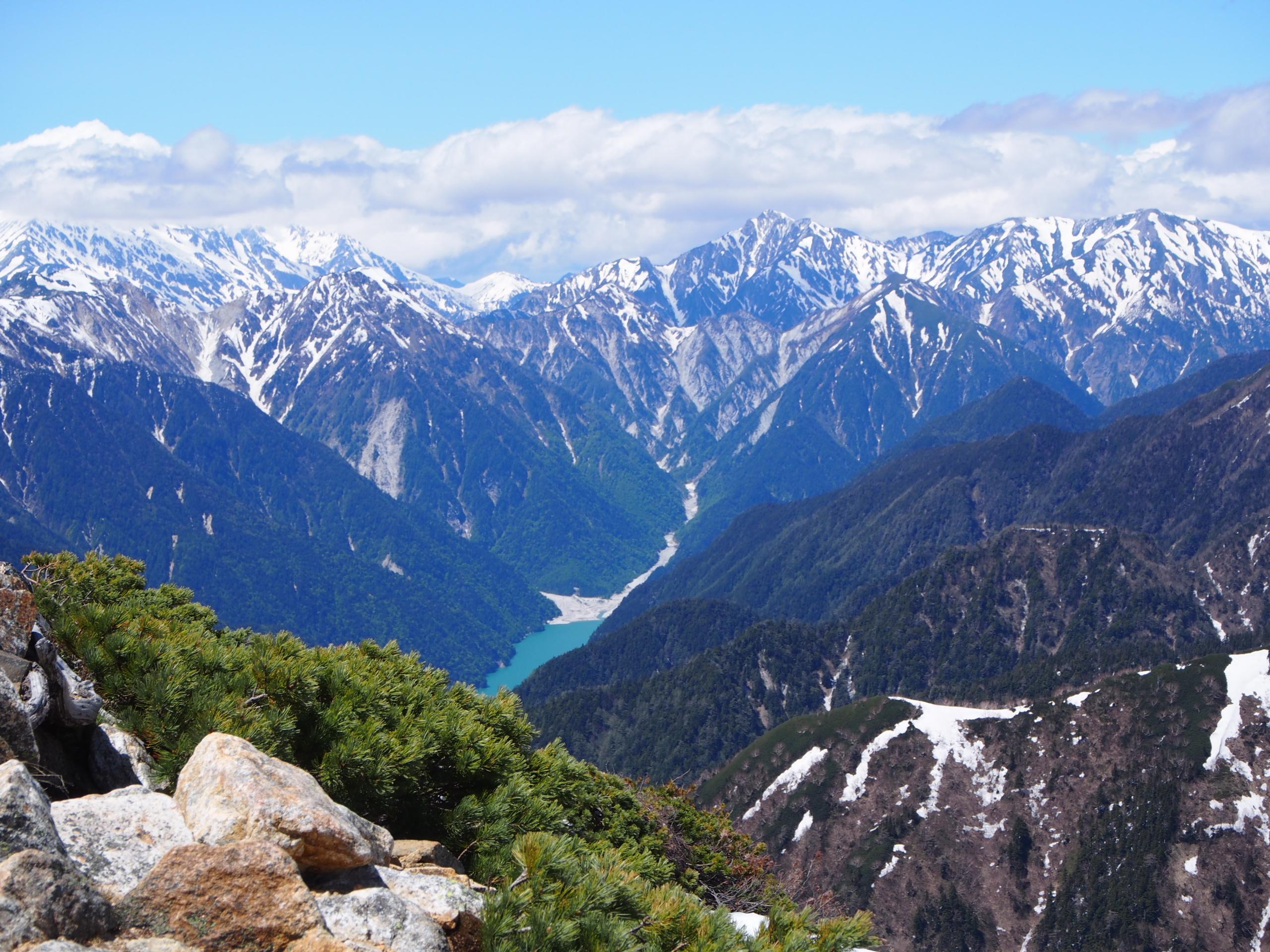 大天井岳から高瀬湖