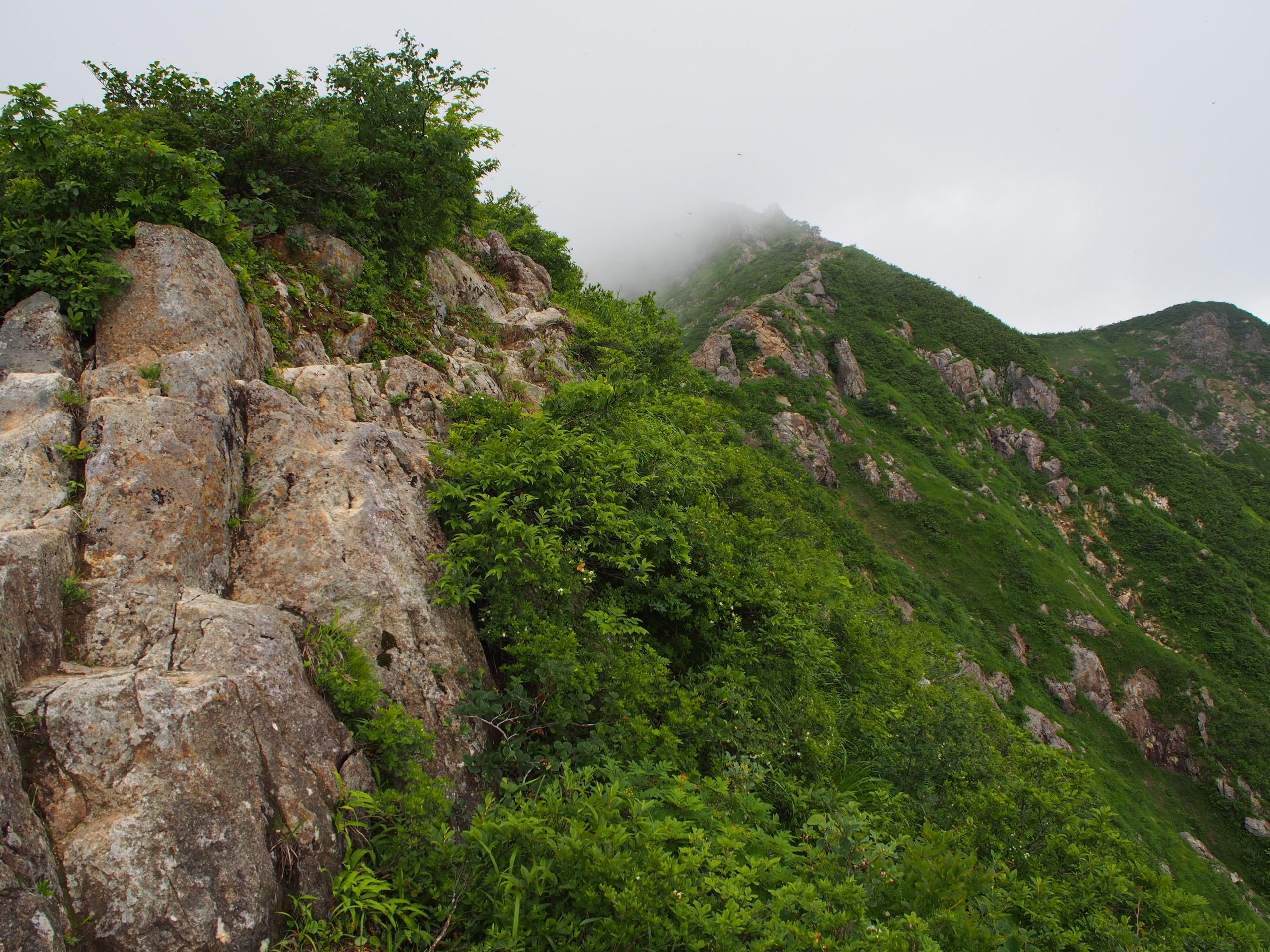 剣ケ峰の岩稜帯