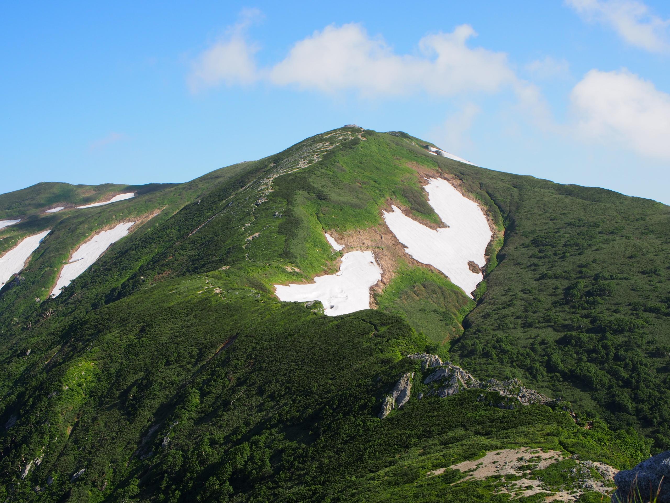 ハートの雪渓