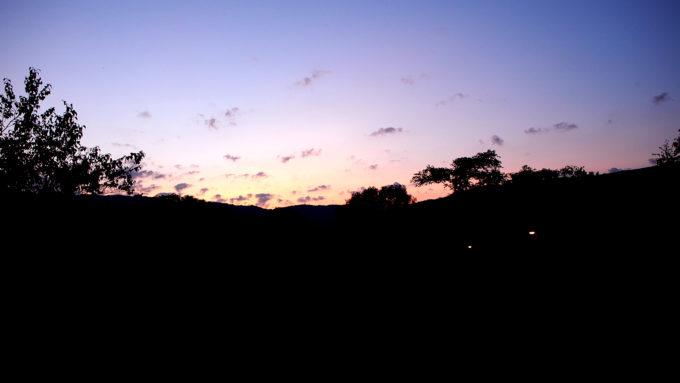 キャンプ場からの夕焼け
