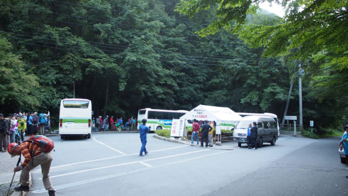 広河原バス乗り場