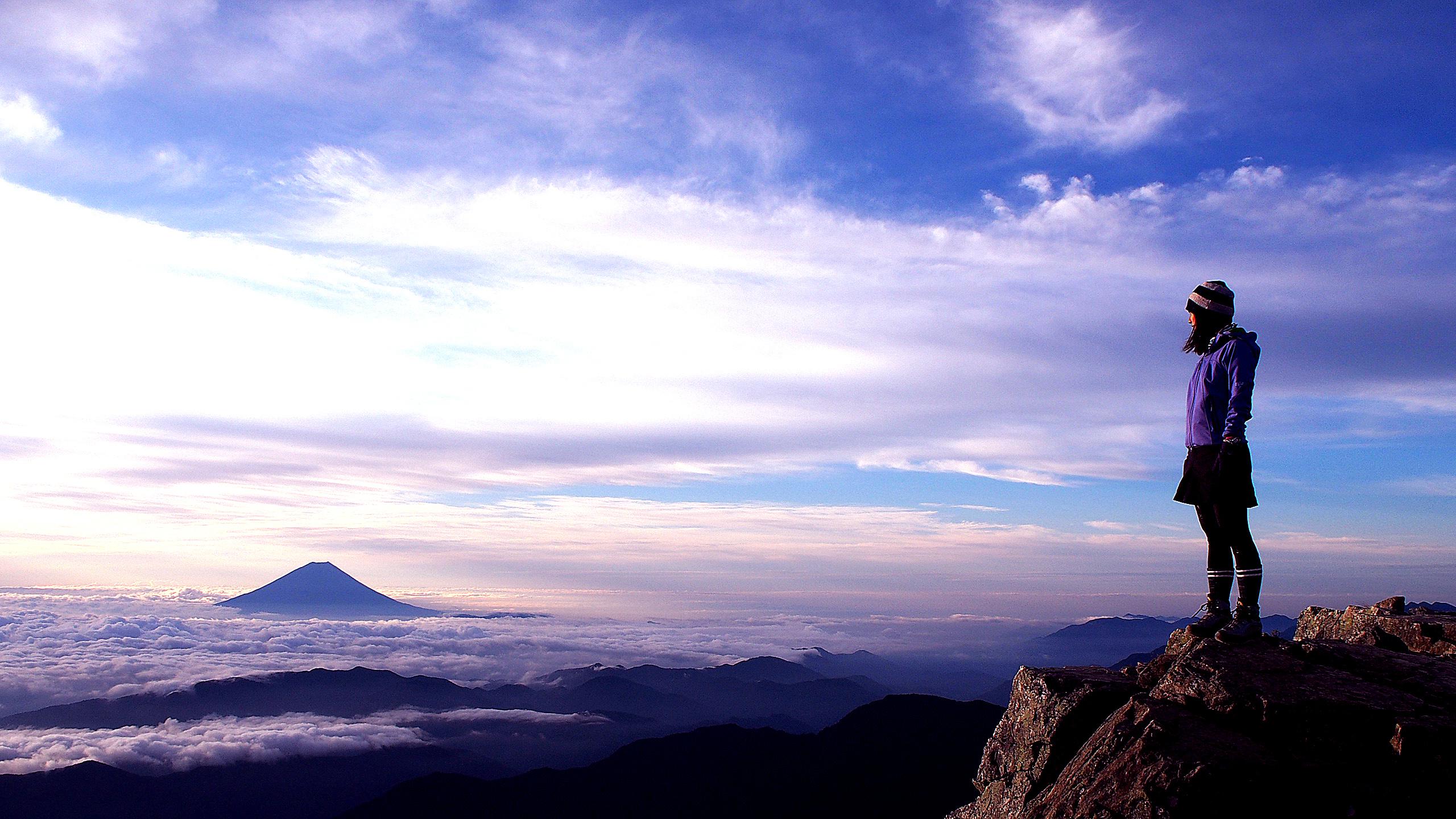 北岳山頂からの富士山