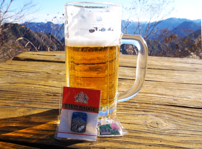 針ノ木小屋の生ビール