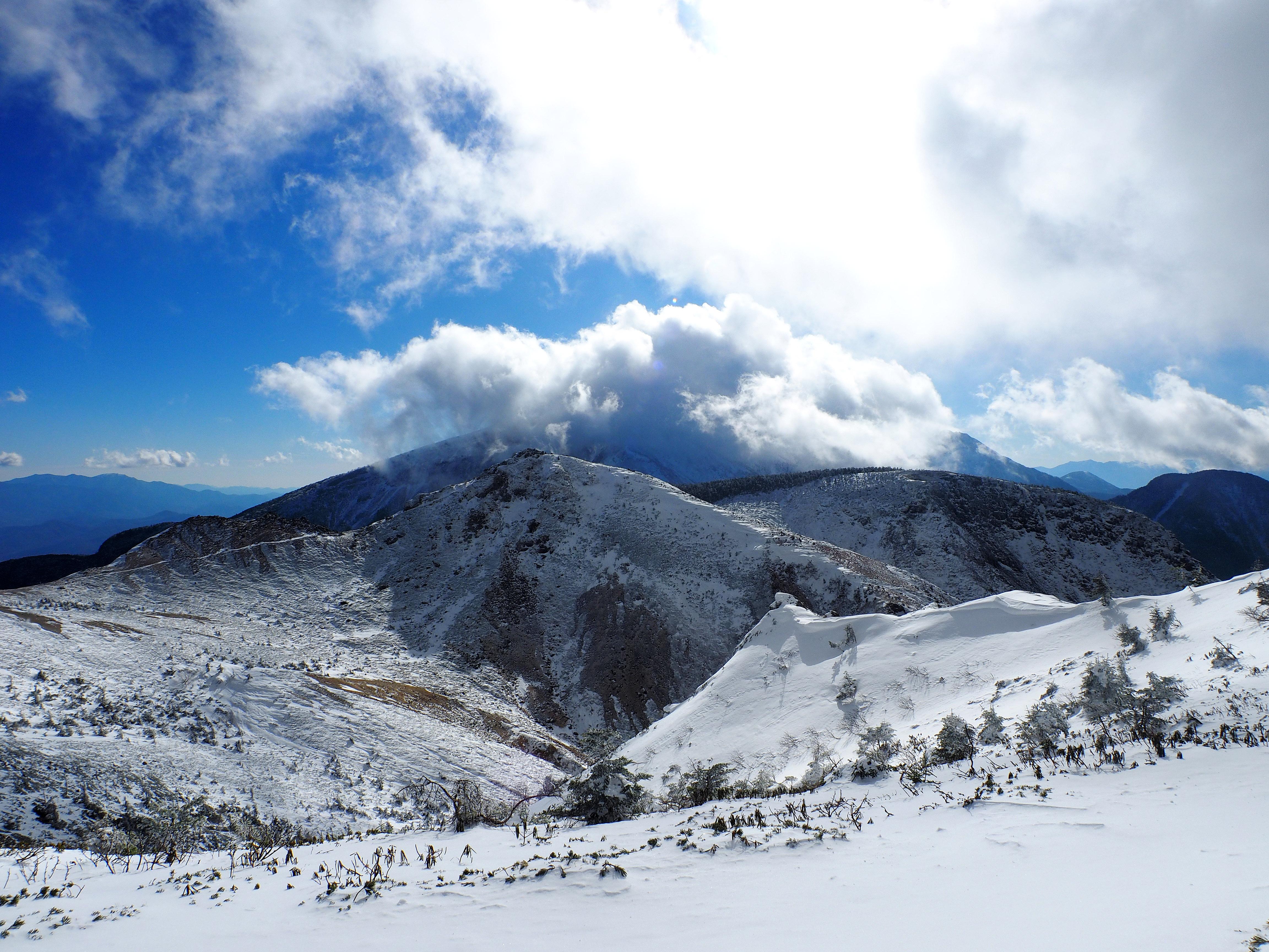 硫黄、赤岳、横岳方面