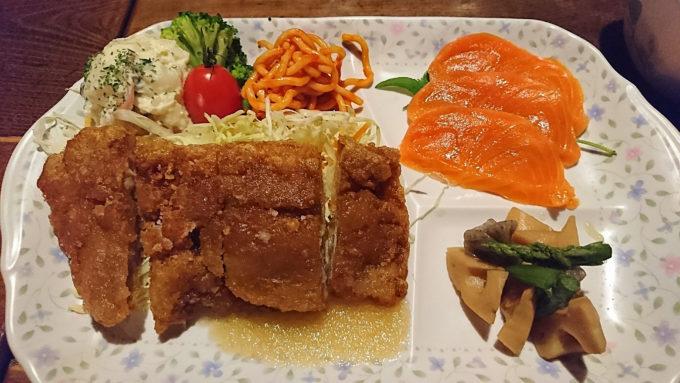 西穂山荘の大晦日の夕食