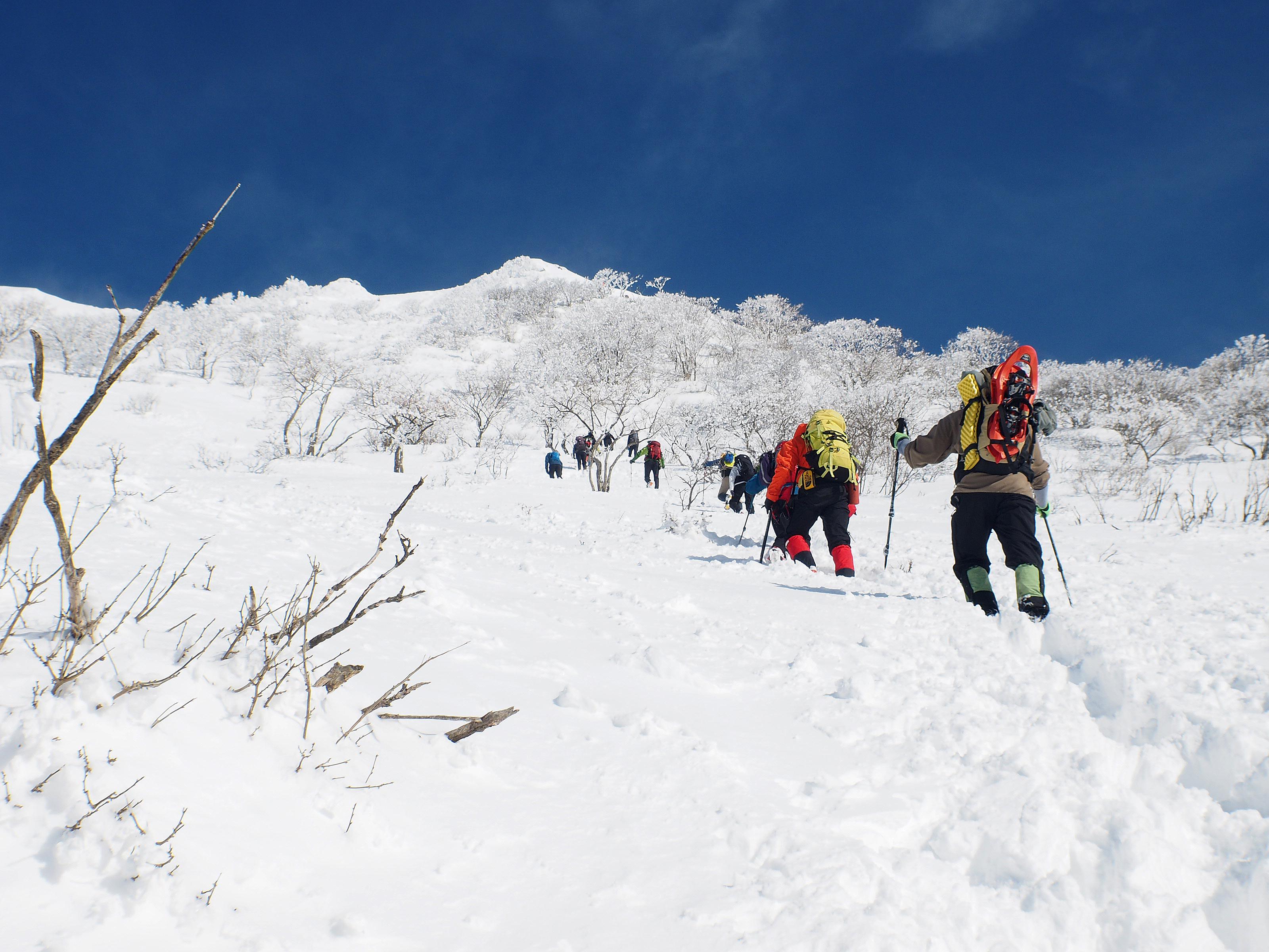 登りの行列
