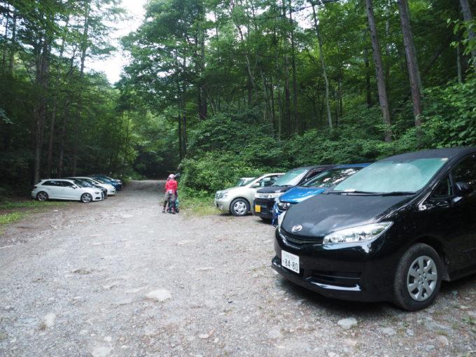 青木鉱泉の駐車場
